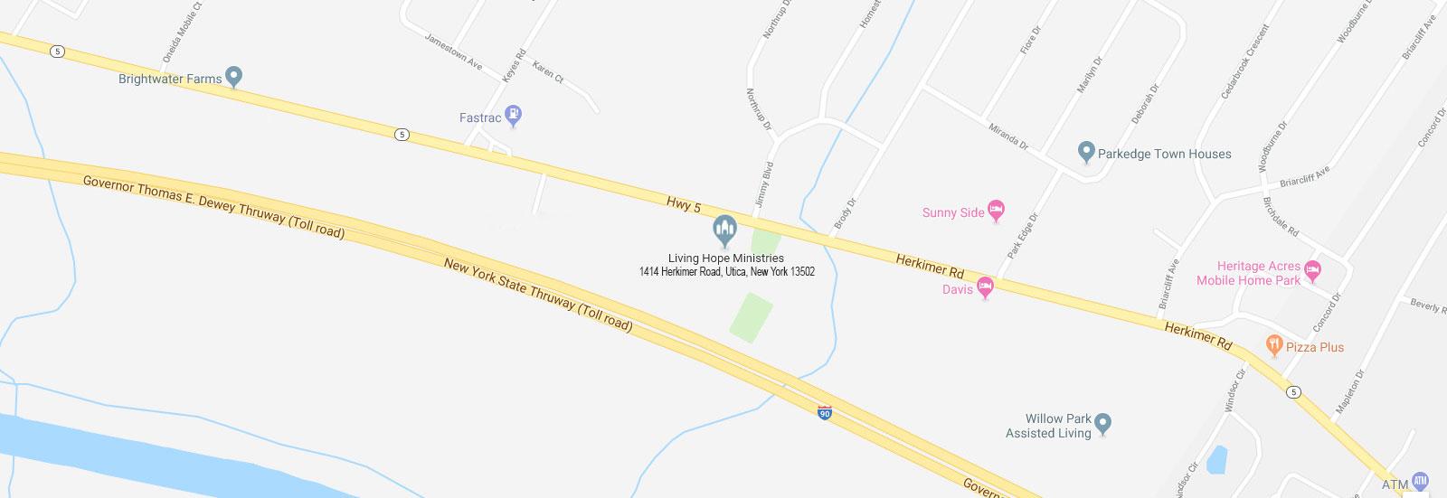 Living Hope Ministries Inc. 1414 Herkimer Road, Utica, New York 13502 Phone: 1-315-732-0123